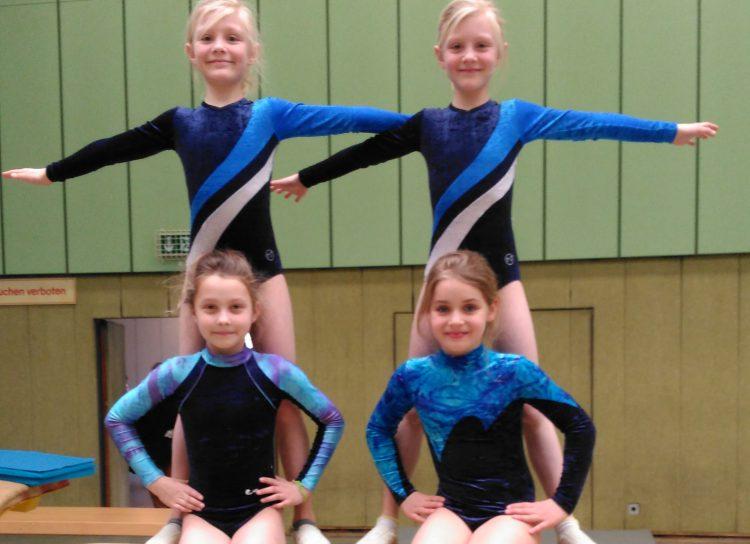 Delkenheimer Mädchen bei den Gau-Einzelmeisterschaften im Gerätturnen